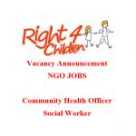 Community Health Officer Social Worker | ngo jobs 2021