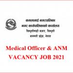 .Medical Officer & ANM vacancy job 2021