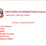 Staff Nurse , HA , ANM and Medical officer Vacancy 2021