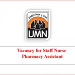 Staff Nurse | Pharmacy Assistant | ingo vacancy