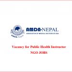Public Health Instructor | AMDA-Nepal | ngo jobs